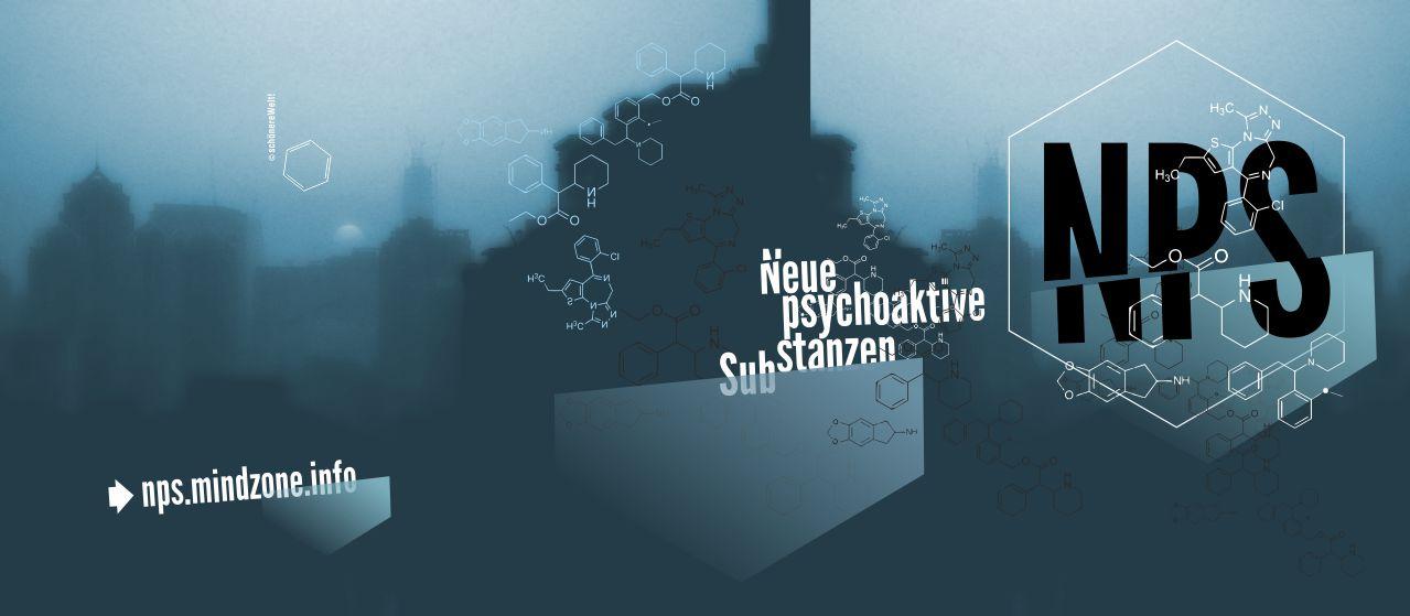Titelgrafik der NPS Broschüre für neue psychoaktive Substanzen