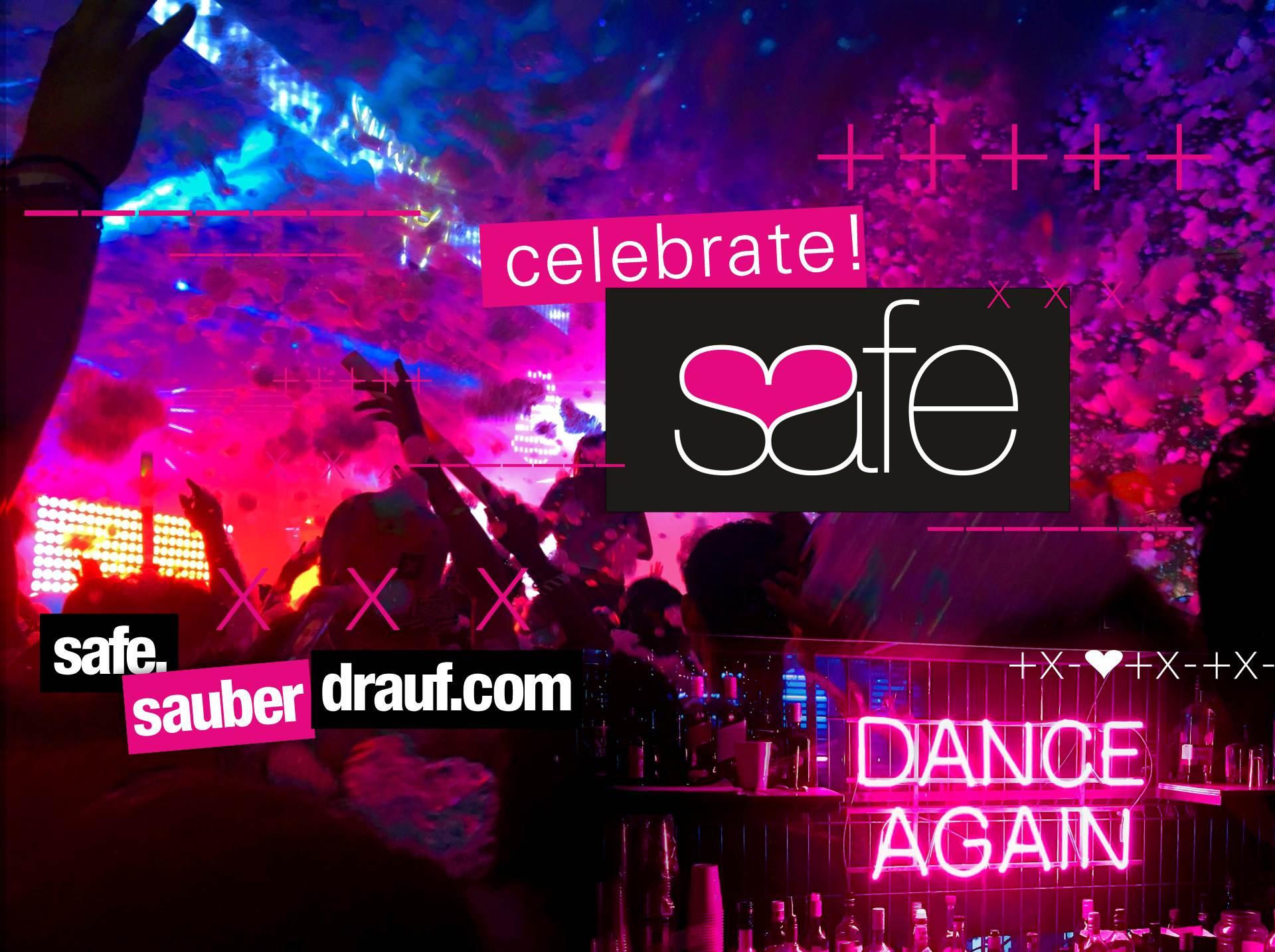 ReFeiern - sauber feiern - Safer Use Banners -celecbrate safe - safer use - BANNER 1 - 1920px
